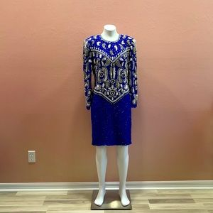 Scala Vintage Prom Beaded Sequin Formal Size XL